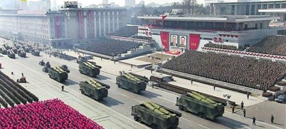 Novi balistički raketni sistem kratkog dometa Severne Koreje na paradi (Foto:KCNA)