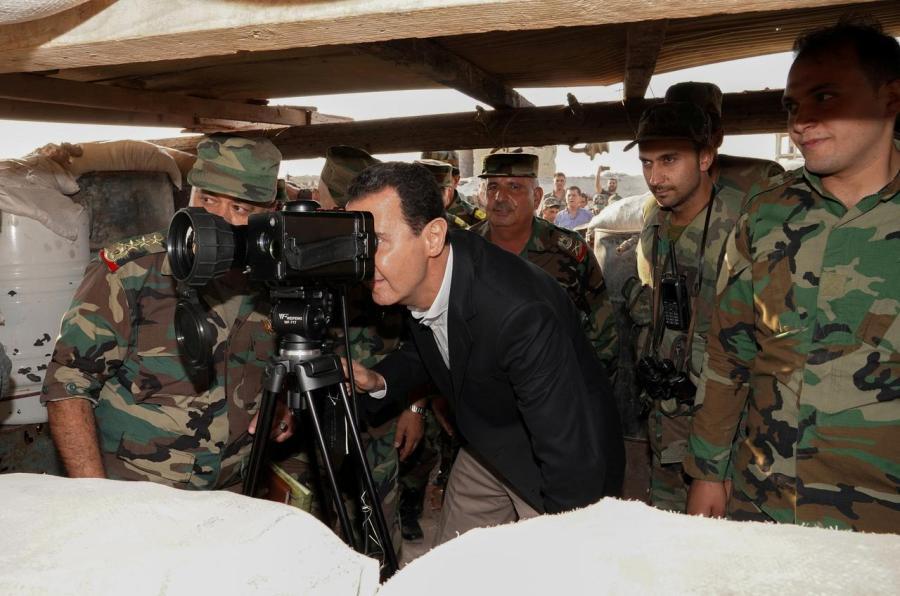 Asadova poseta Idlibu (foto: SANA)
