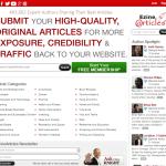 article directory traffic
