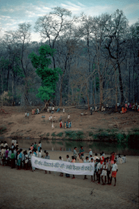 1. Anti-Bhopalpatnam dam rally, Hemalkasa, Maharashtra @ Ashish Kothari, Global Education Magazine