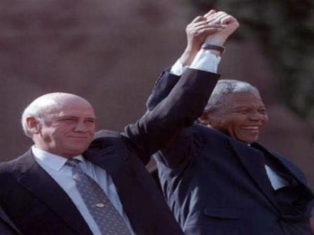 nelson mandela, fw de klerk, global education magazine, human rights day
