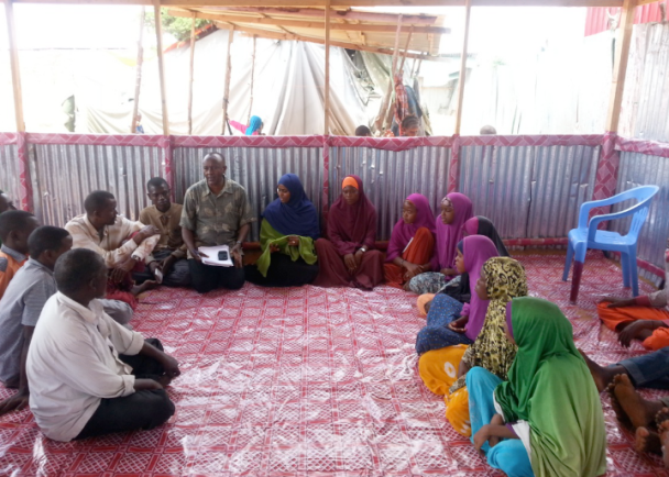 Fig 3. Focus Group Discussion at Al Cadaala camp IDP, Mogadishu by Ifrah Ahmed, global education magazine