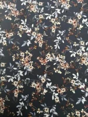 navy floral super soft fabric