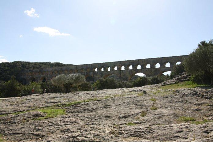Pont du Gard off in the distance...