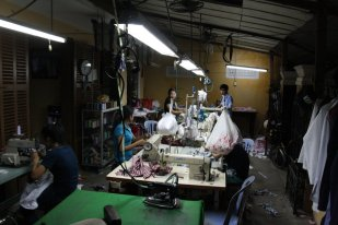 Sewing shops can be found in the maze of alleyways.