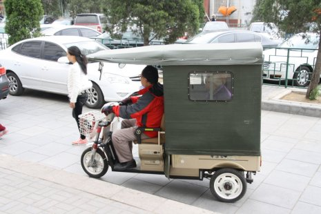 Chinese tuk-tuk? Only holds one person...