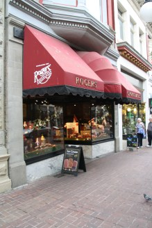 Iconic Rogers Chocolate store in Victoria