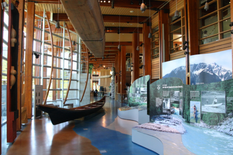 The inside of the museum