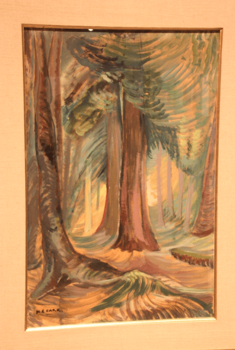 A painting of trees