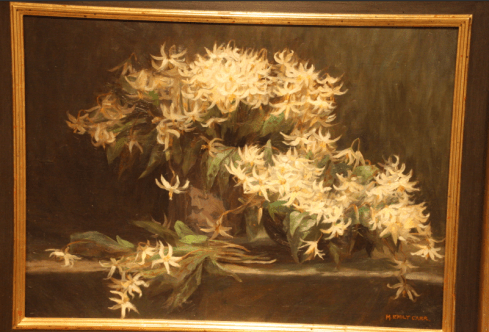 A painting of flowers in the European style