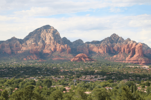 The view of Cathedral rock from the vortex site