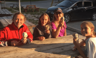 Cottage ice cream! Way bigger than in the city!