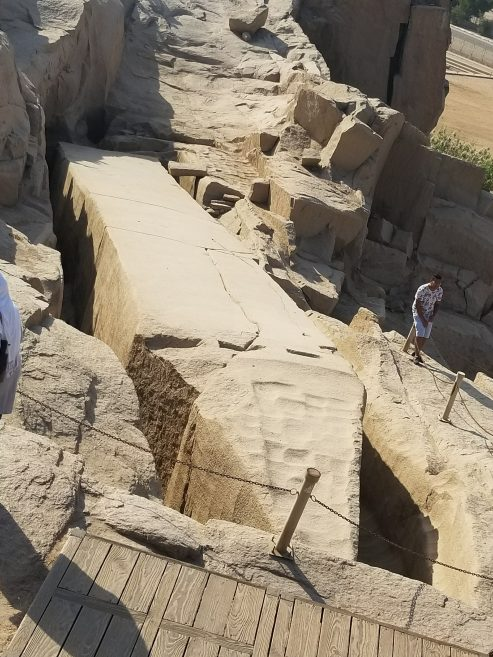 The Unfinished Obelisk of Aswan from the top...