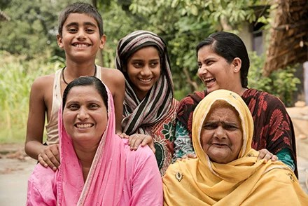 Rufa and some of the girls and women she works with.