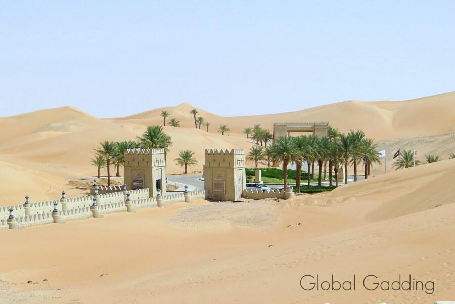 entranct to qasr al sarab resort