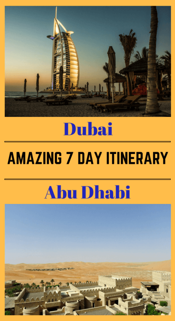 Amazing 7 Day Itinerary For Dubai and Abu Dhabi