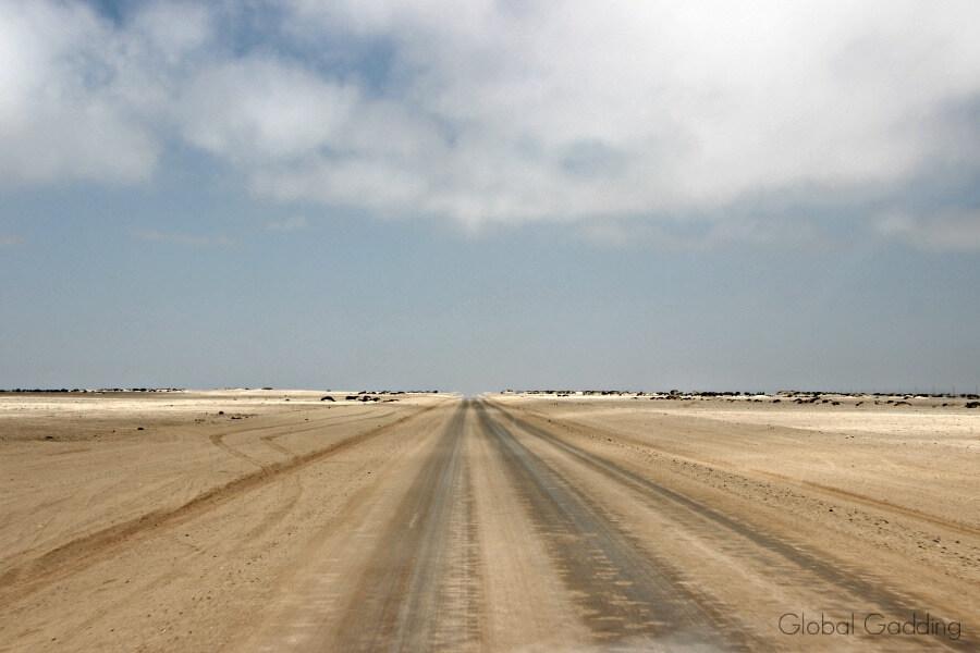 Namibia Road Sand