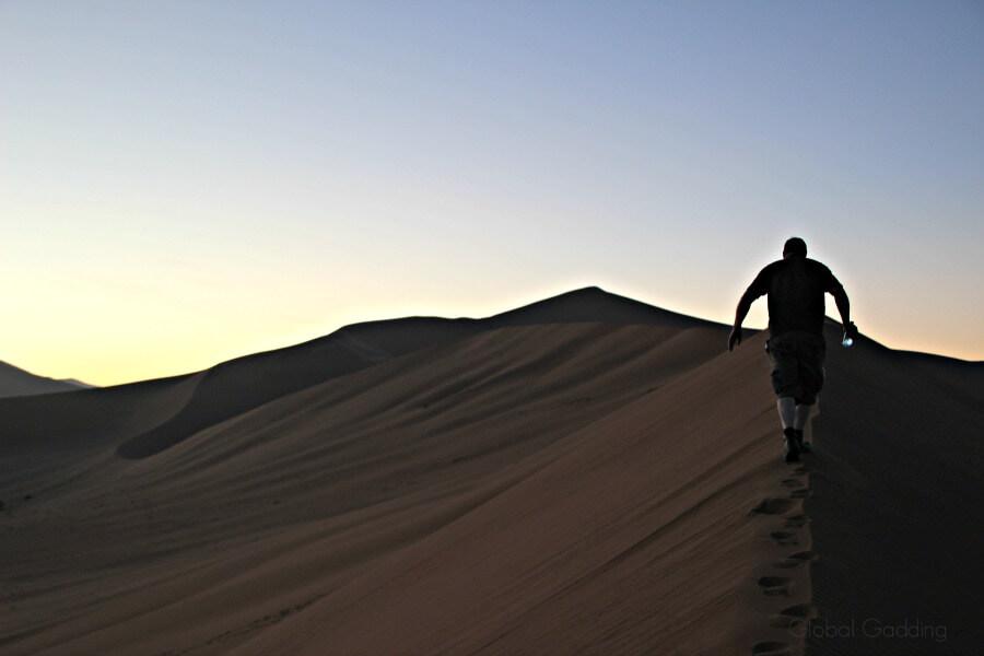 Climbing Big daddy Sand Dune