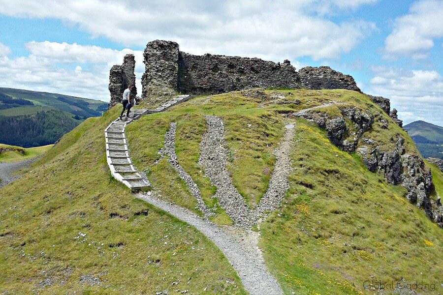 castell dinas bran wales
