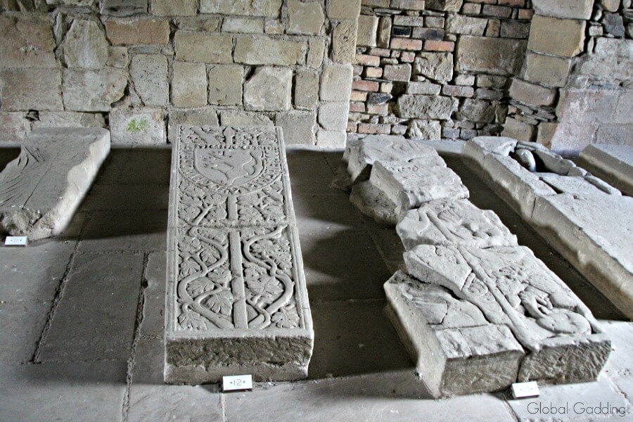valle crucis abbey grave slabs