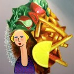 Heinz Zolper Dame mit Schnitzel Lady with snitzel e1566423893367 - ARTFORUM EDITIONS