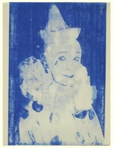 FORD BECKMAN Clown Portrait Blue 10 - FORD BECKMAN - Clown Portrait Blue # 10