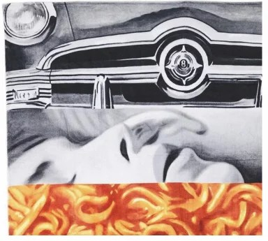 JAMES ROSENQUIST - Untitled (Spaghetti talk)