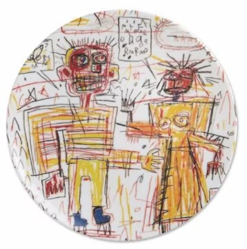 JEAN-MICHEL BASQUIAT - Self Portrait with Suzanne