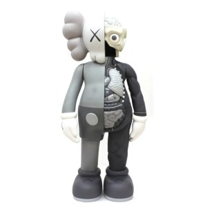 Kaws Comanion Flayed grey vinyl sculpture - KAWS - Companion Flayed, grey