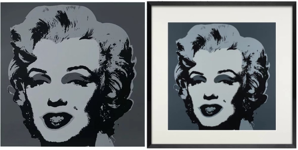 Warhol Sunday B Morning Mailyn 11.24 silkscreen - ANDY WARHOL (Sunday B. Morning) - Black Marilyn