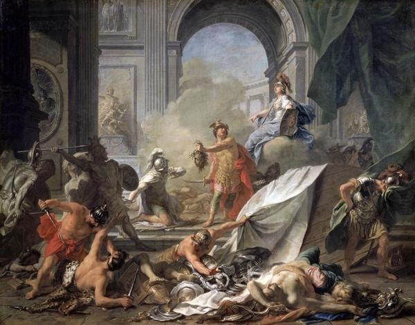 Jean Marc Nattier Perseus With Minerva Showing The Head