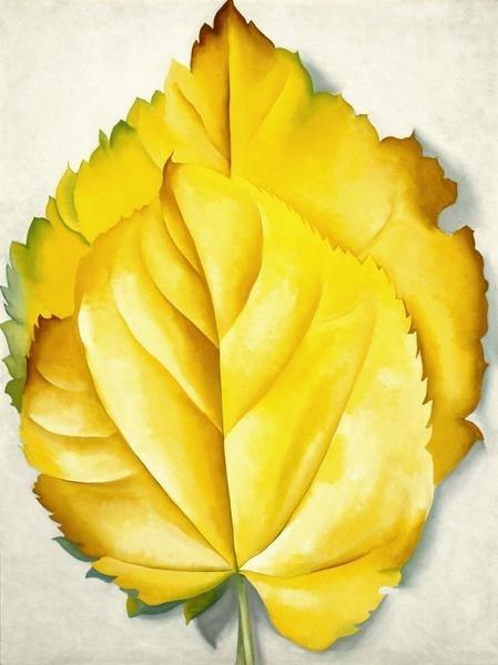 Georgia OKeeffe 2 Yellow Leaves Yellow Leaves 1928