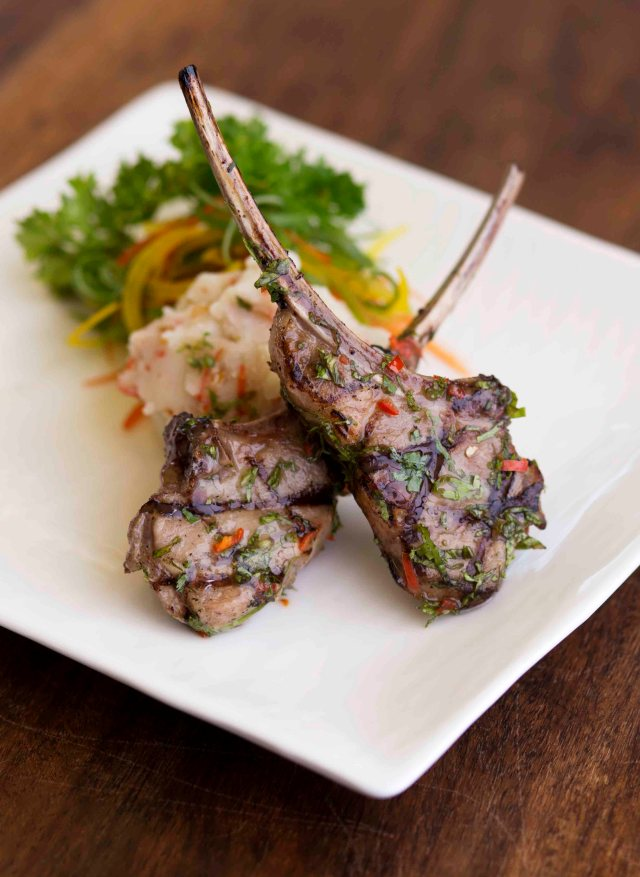 Miso citrus new zealand lamb chops served in Shiro