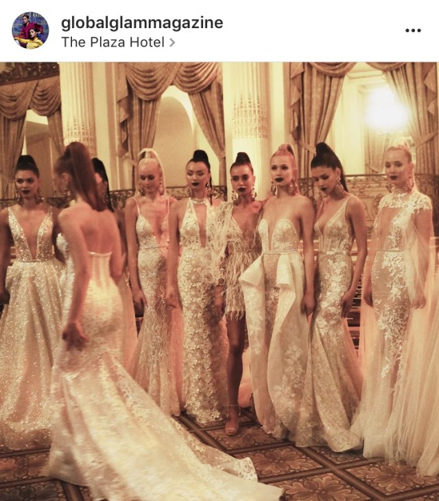 Behind the scenes @bertabridal at Bridal Fashion Week s/s 2018. @theplazahotel