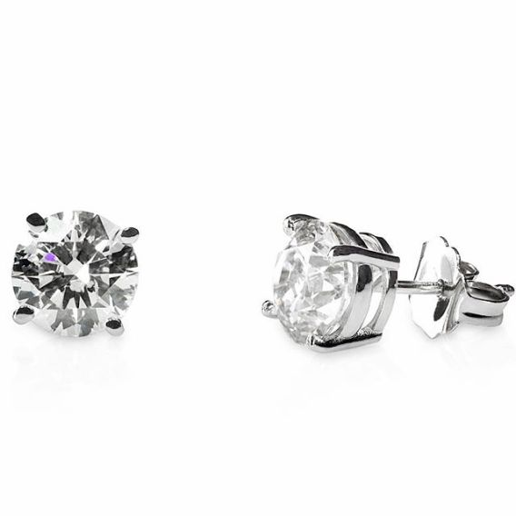 Tulcy Genuine 1/2 Cttw Natural Diamond (G-H, I1-I2) Earrings In 14k White Gold, $199