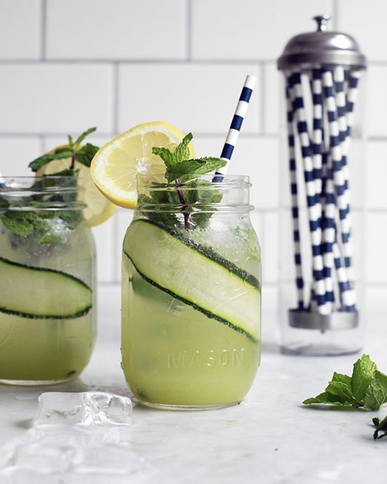Cucumber Mint Lemonade via The Jewels of New York