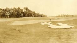 The green on No. 2 shows Alister MacKenzie's original bunkering.