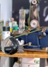 Whether in his hands or in a vise on a workbench, Palmer and his golf clubs rarely were far apart.