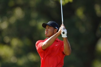 2006 PGA Championship – Woods shot 18-under par to win by five strokes at Medinah. He led by two after the third round and pulled away, with Shaun Micheel as his closest competitor in the end, five strokes back. (Photo by Montana Pritchard, The PGA of America/Getty Images)