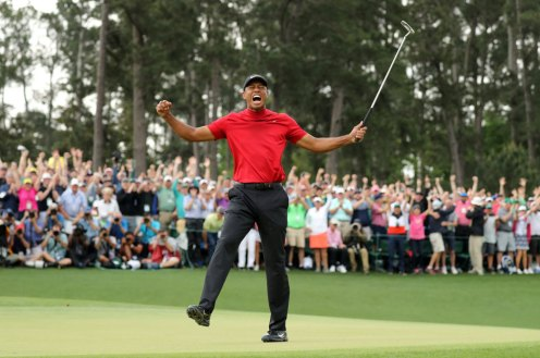 2019 Masters – Woods shot 13-under par to win by one shot and end an 11-year major drought, a 14-year Masters dry spell, and continue arguably the greatest comeback in sports. (Photo: Lucy Nicholson)