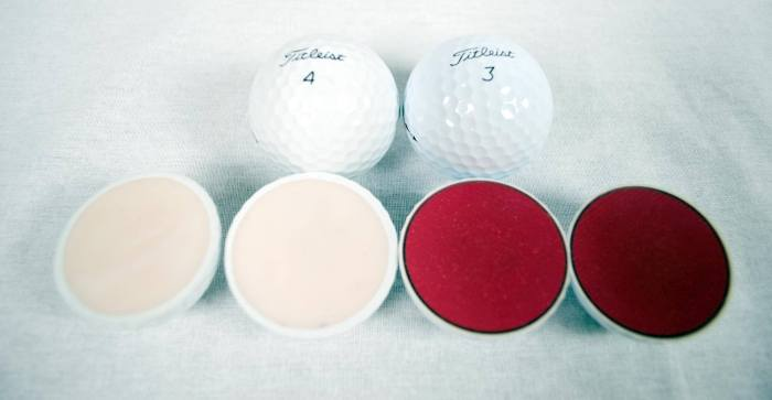 Titleist authentic and counterfeit golf balls