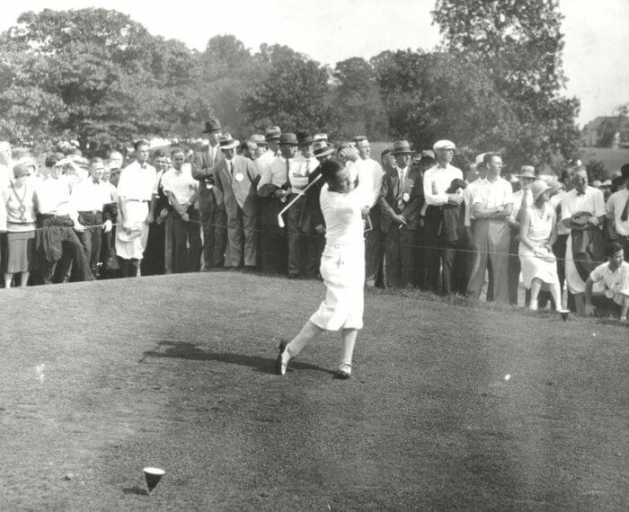 Bobby Jones 1930 U.S. Open tees off