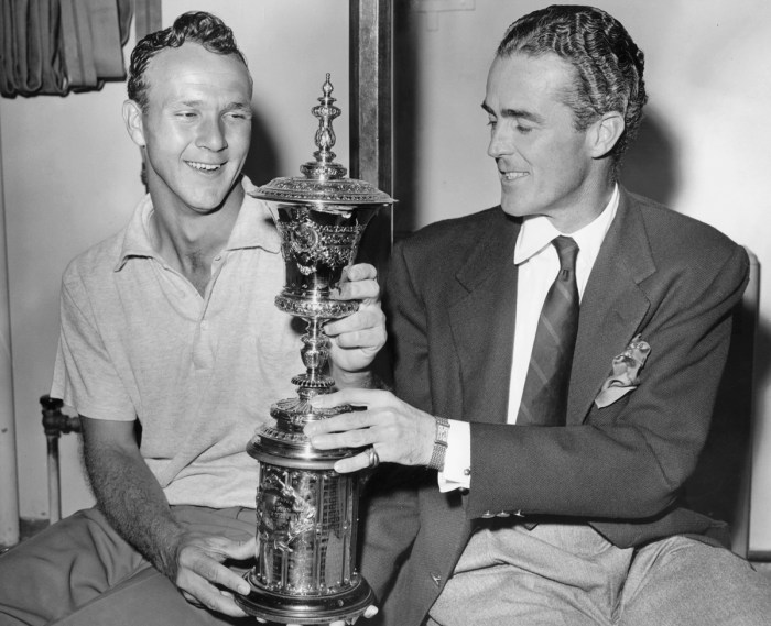 Arnold Palmer and Bobby Sweeny