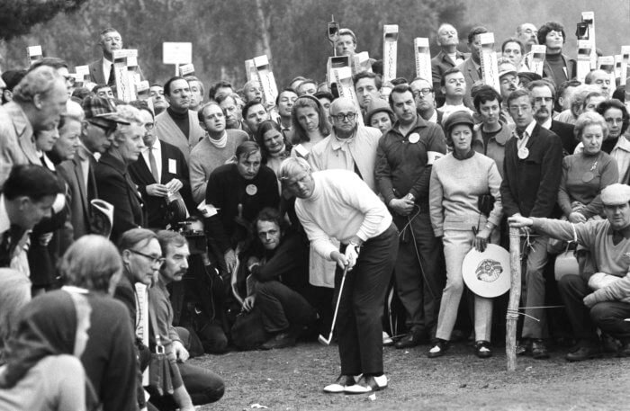 Jack Nicklaus at Wentworth in 1970