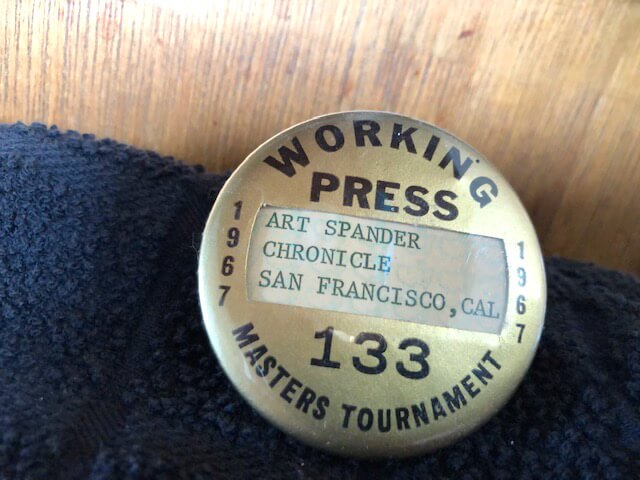 Art Spander, 1967 Badge