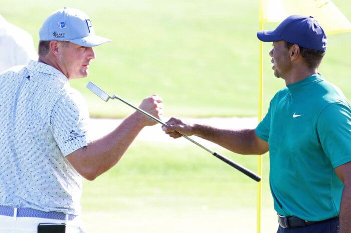 Bryson DeChambeau and Tiger Woods