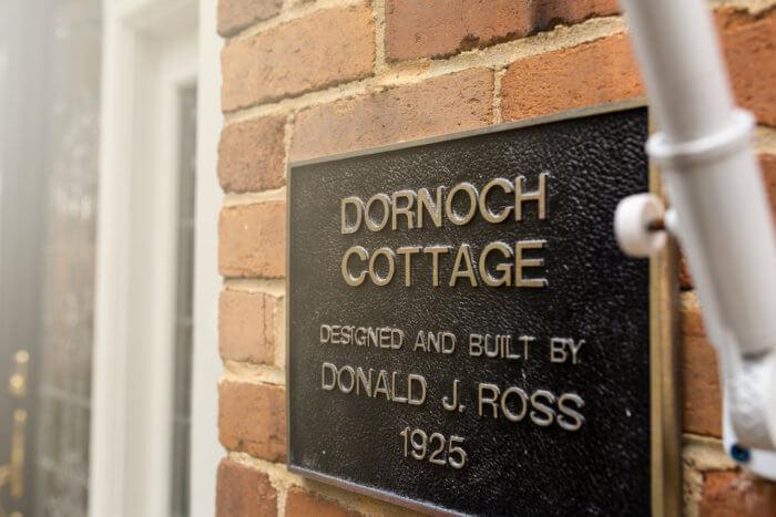 Dornoch Cottage sign