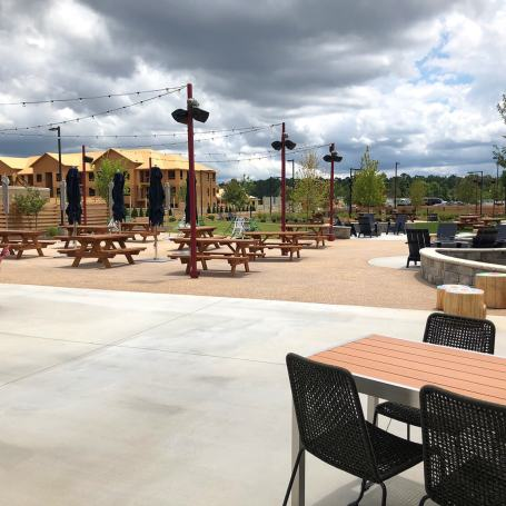 Topgolf Augusta outdoor pavilion