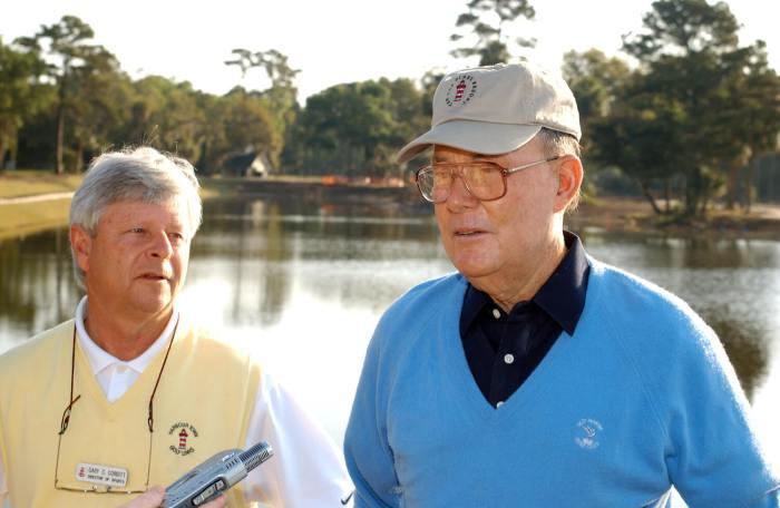 Cary Corbitt and Pete Dye