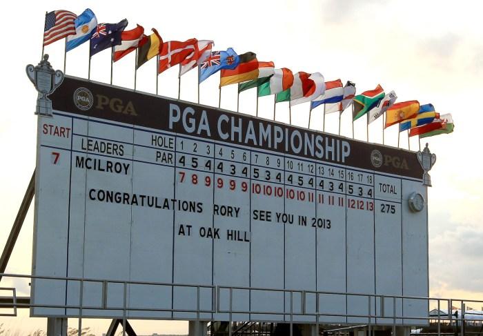 2012 PGA Championship final scoreboard